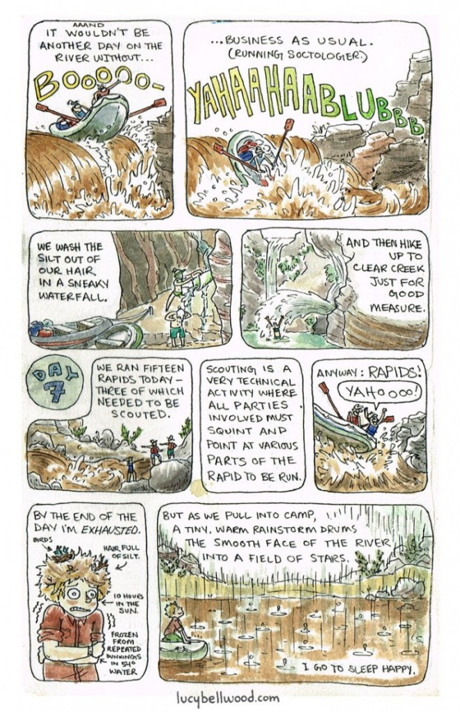 """A page from Lucy Bellwood's """"Grand Adventure"""""""