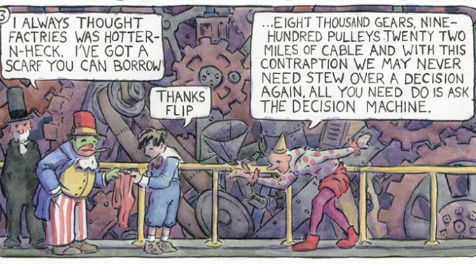 A panel from Jerel Dye's entry in the anthology Little Nemo: Dream Another Dream